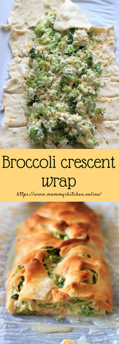 Broccoli crescent wrap #vegetarian #recipemeals