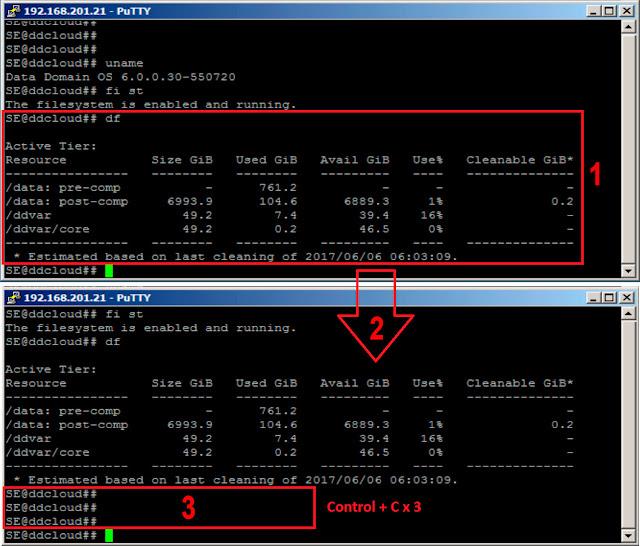 EMC Data Domain: reset sysadmin password -  presionar las teclas ctrl + c tres veces consecutivas.