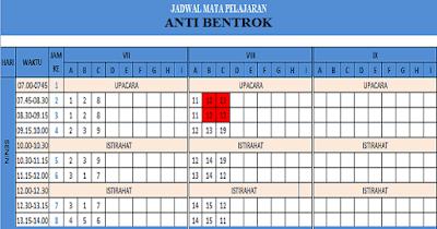 Download Aplikasi Jadwal Pelajaran Anti Bentrok 2018/2019 Format Excel