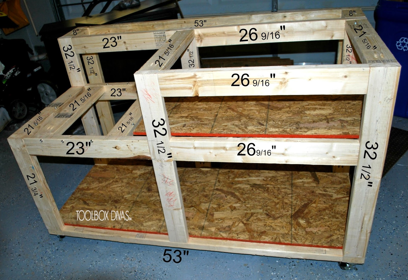 Table saw workbench with wood storage for Table saw table plans