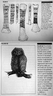 Marija Gimbutas - Neolithic symbolism - owl eyes as symbols of regeneration