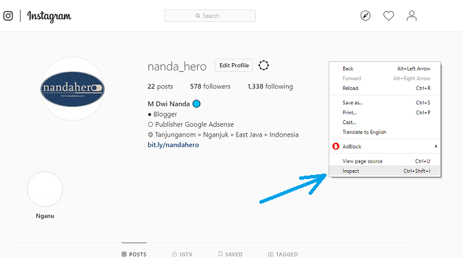 cara upload foto di instagram lewat google chrome