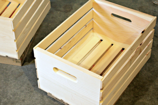 116 Playroom Progress: Great Crate Book Storage
