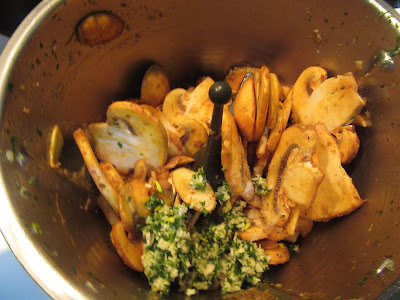 Champiñones en salsa de pimentón con Thermomix.