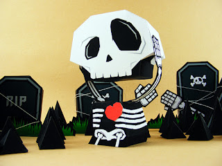 free Halloween paper toys