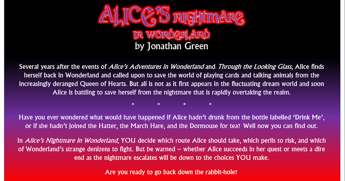 Jonathan Green Author The Alices Nightmare In Wonderland Launches