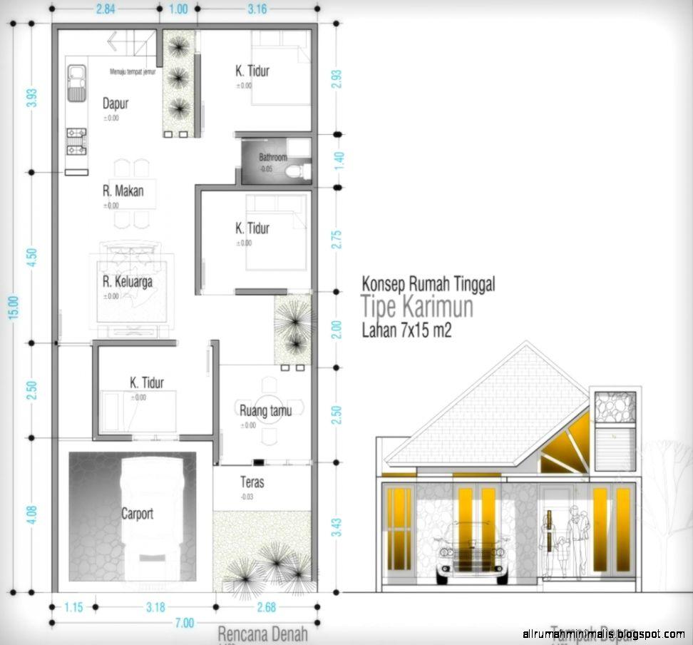 Gambar Kerja Rumah  Type 45 Rumah  Zee