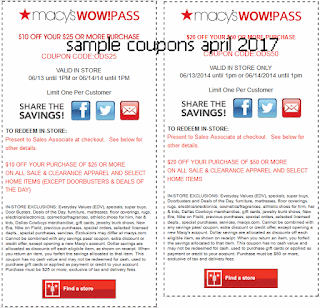 Discount coupons april 2017