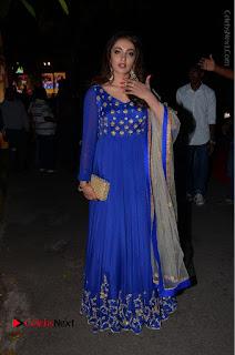 Telugu Actress Tejaswi Madivada Pos in Blue Long Dress at Nanna Nenu Na Boyfriends Audio Launch  0112.JPG