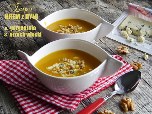 Zupa krem z dyni z gorgonzolą i orzechami włoskimi - Czytaj więcej »