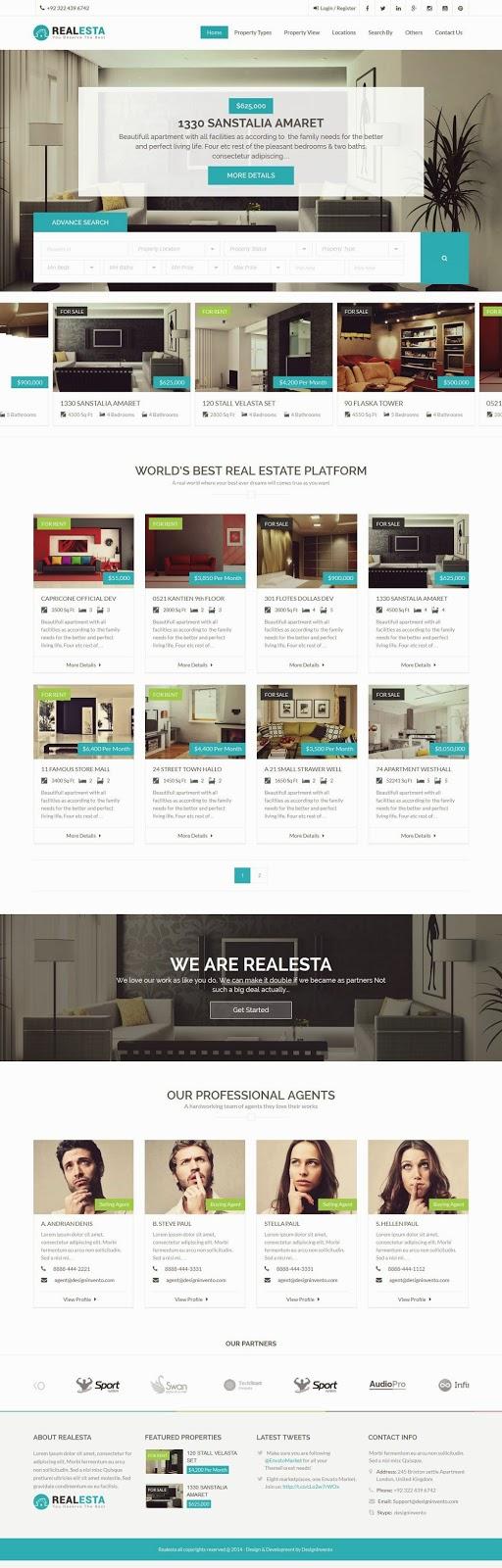 Real Estate Responsive WordPress Theme 2015