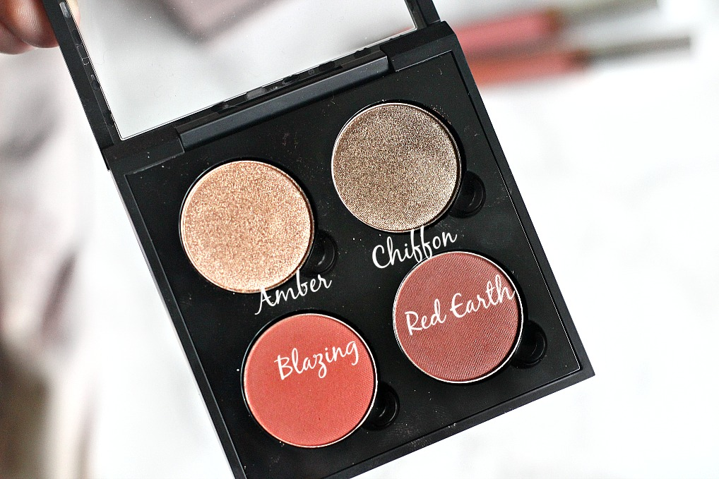 anastasia beverly hills UK haul ABH chiffon, amber, blazing, red earth