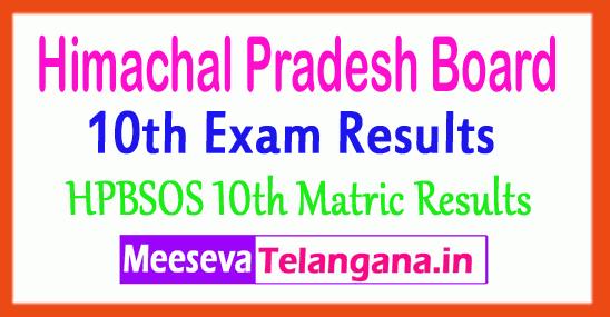 Himachal Pradesh Open School 10th Results HP Board SOS Matric Result