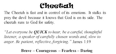 James 1:19 Cheetah