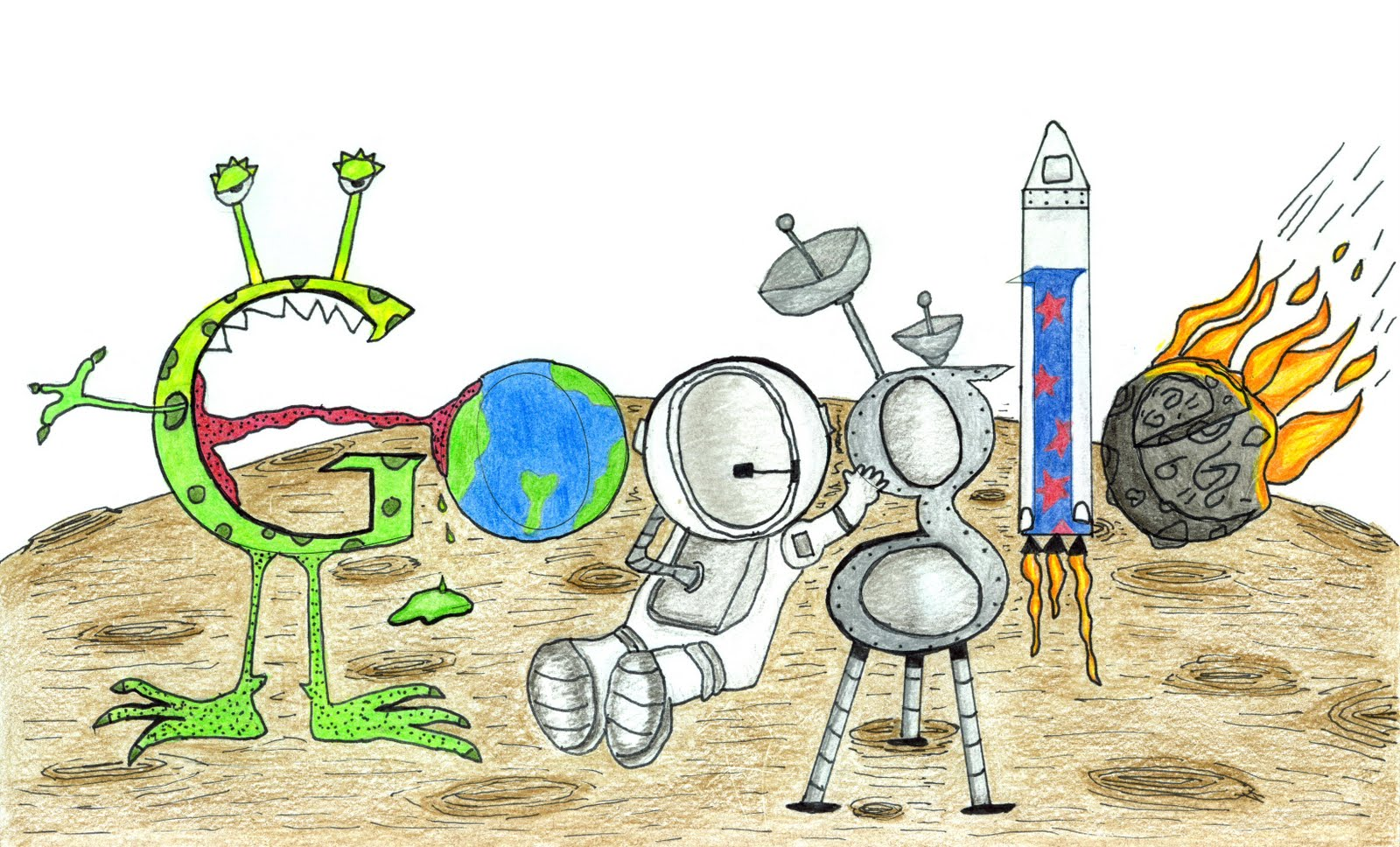 Google theme winner - And The 2011 U S Doodle 4 Google Winner Is