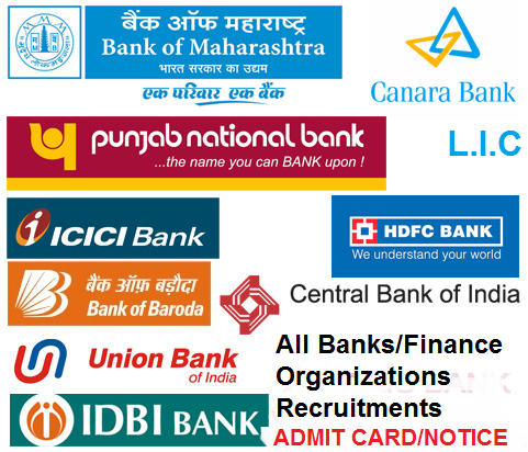 Bank/Finance- Admit card/call letter/Notice
