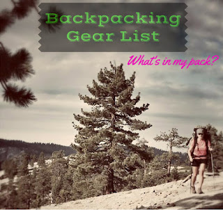 Backpacking Gear List for women