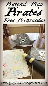 Pirate pretend play printables