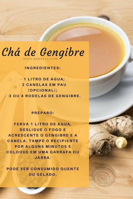 Chá Termogênico de gengibre receita