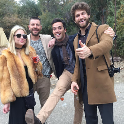 PLL stars Ashley Benson, Ian Harding and Keegan Allen at Troian Bellisario's wedding