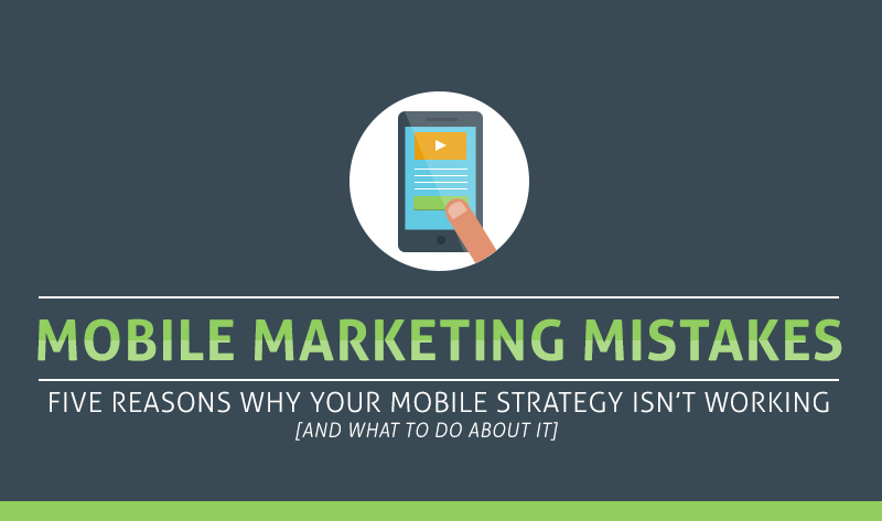 Mobile #Marketing Mistakes (And How to Fix Them!) #infographic - With everyone glued to their phones, and tablets, there's no way marketers can miss out on the opportunity to target this demographic. This infographic provides you with the five big issues mobile marketing faces, and how you can avoid them.  Optimize your website for mobiles and tablets, so you can attract more traffic. Google now shows whether a website is mobile-friendly or not in the SERPs, and this is a key feature all websites must have. Smartphone conversion rates have gone up by 64%, compared to desktop conversion rates. Don't miss out on this opportunity and make sure you have a specific call-to-action. Offering social auto-fill (auto-completing forms using data gathered from a user's social media accounts) will help increase the number of people filling out long forms. Pro tip: keep all forms short in any case, as filling out any form on a mobile is not convenient and will result in people clicking away. Finally, make sure you have the optimal amount of content on your website. While people will want to read long articles on blogs, the same cannot be said for your home-page. Keep the content short and sweet, making sure to keep most of it above the fold.  With these tips, you should be a mobile marketing guru in no time.