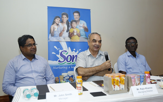 L to R -Mr. John Smith, GM, Mr. Rajiv Khanna, MD & Mr. Chandrasekhar, Manager, Kwality Milk Foods