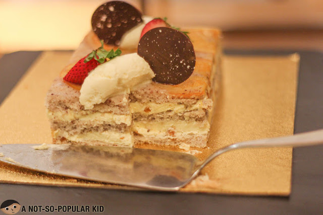 Tiramisu cake in dessert section of Spectrum