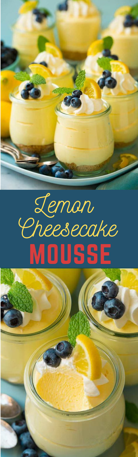 Lemon Cheesecake Mousse #lemon #cakes