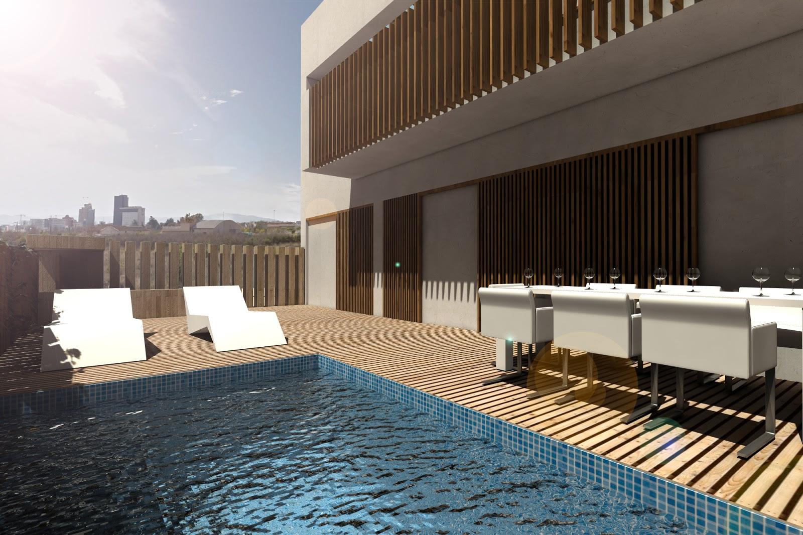 Isasa arquitectos murcia dos viviendas garaje y piscina en el puntal - Arquitectos murcia ...