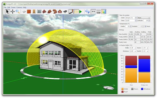 Software Desain Rumah - ( Energy3D )