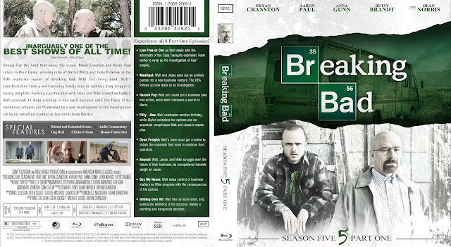 Breaking Bad Season 5 Part 1 Bluray Cover