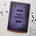 Black and purple Halloween card