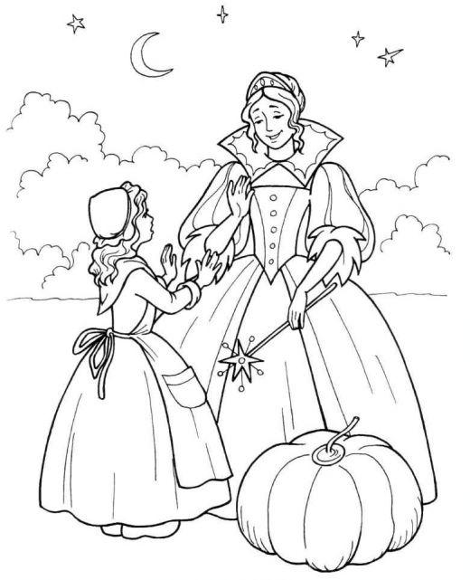 Desenhos para Colorir: Cinderela