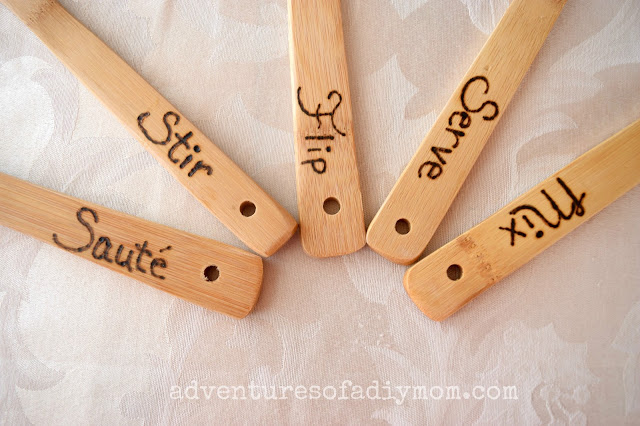 Wood Burned Wooden Spoons & Wood Burning Tips