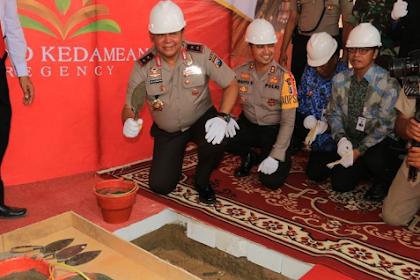 Kapolda Jatim Letakkan Batu Pertama Rumah Dinas Polri di Gresik