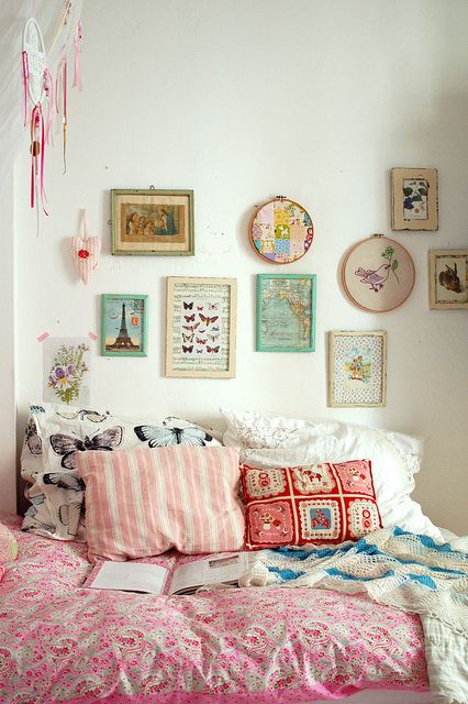 A fun and flirty bohemian bedroom.
