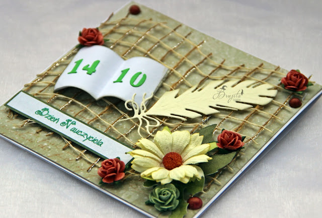 dzień edukacji narodowej, kartka z książką, kartka dla nauczyciela, koniec roku szkolnego, podziękowanie dla wychowawcy