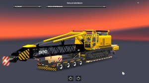 Trailer with Hitachi crawler crane
