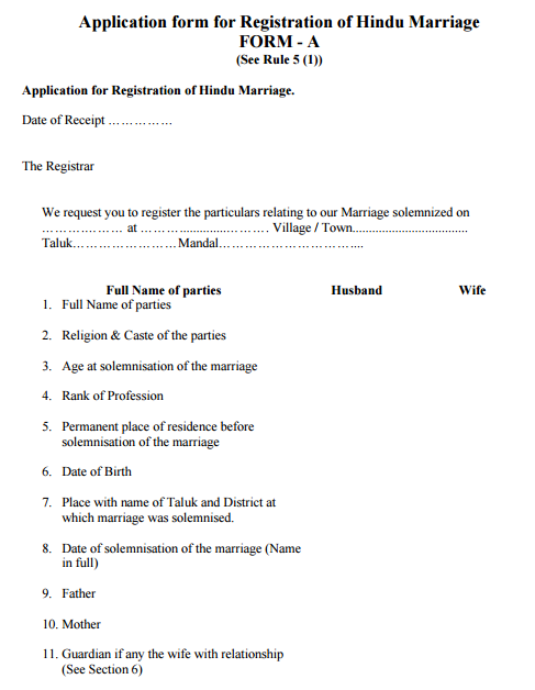 Marriage Certificate Registration India: Marriage Certificate ...