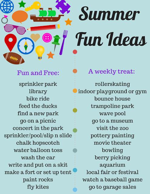 "Savvy Spending: FREE ""Summer Fun Ideas"" Printable! List of"