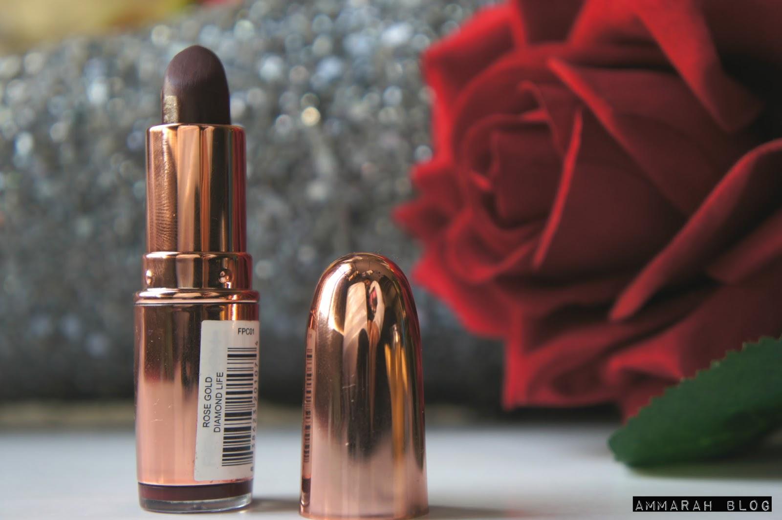 Ammarah Blog: Makeup Revolution Rose Gold Lipstick - Diamond Life