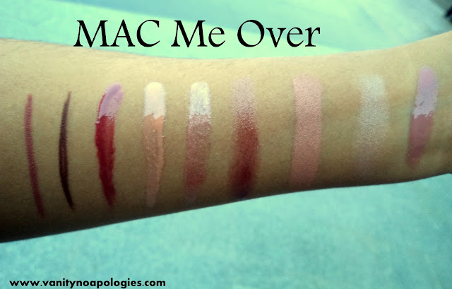 mac me over collection swatches