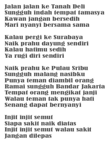Pencipta Lagu Injit Injit Semut : pencipta, injit, semut, Daerah, Injit, Semut, Beserta, Maknanya