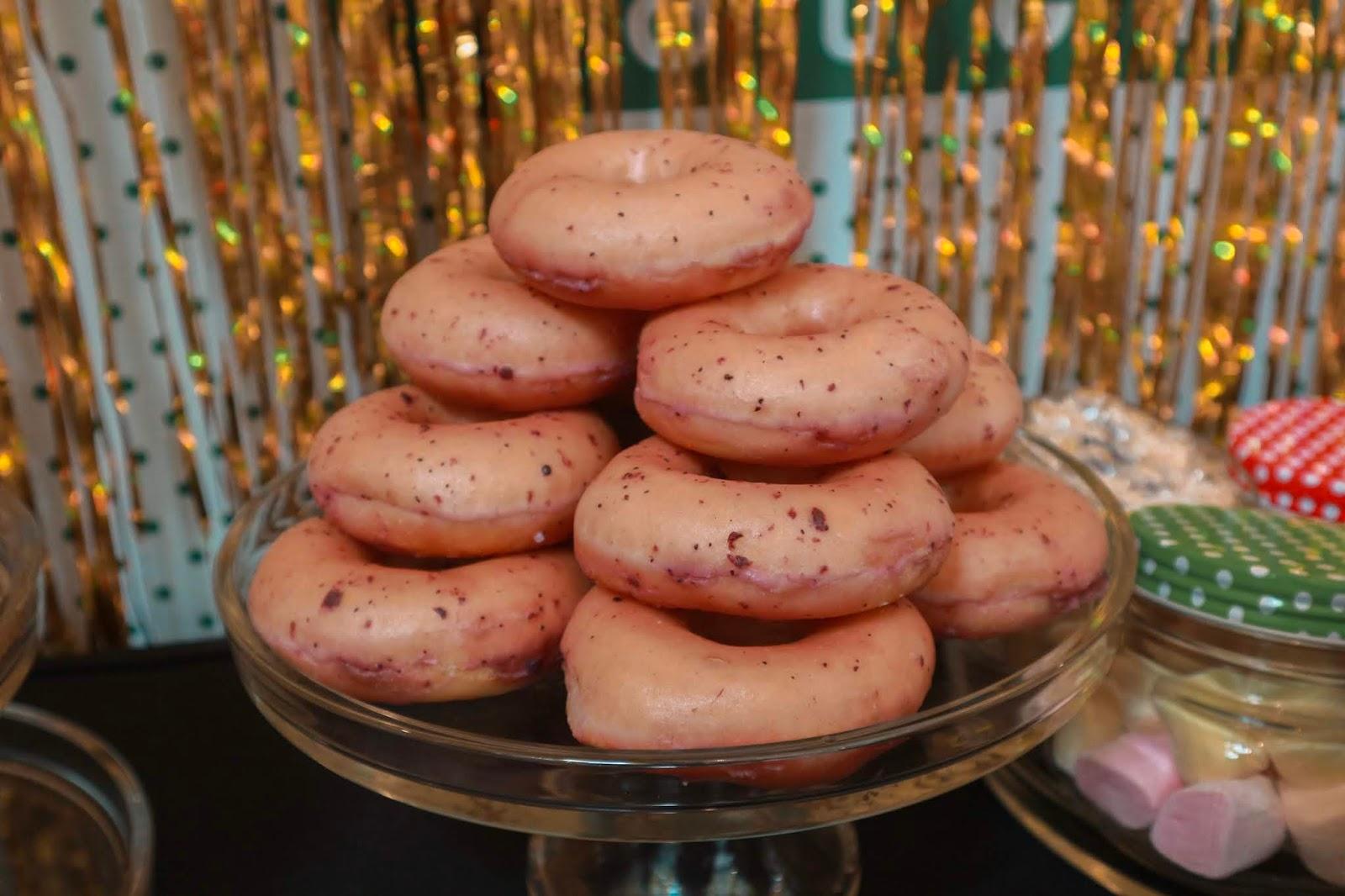 Krispy Kreme Blueberry Bliss Glaze Doughnuts