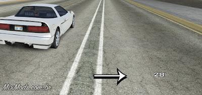 gta sa mod minimalist simple speedometer velocímetro