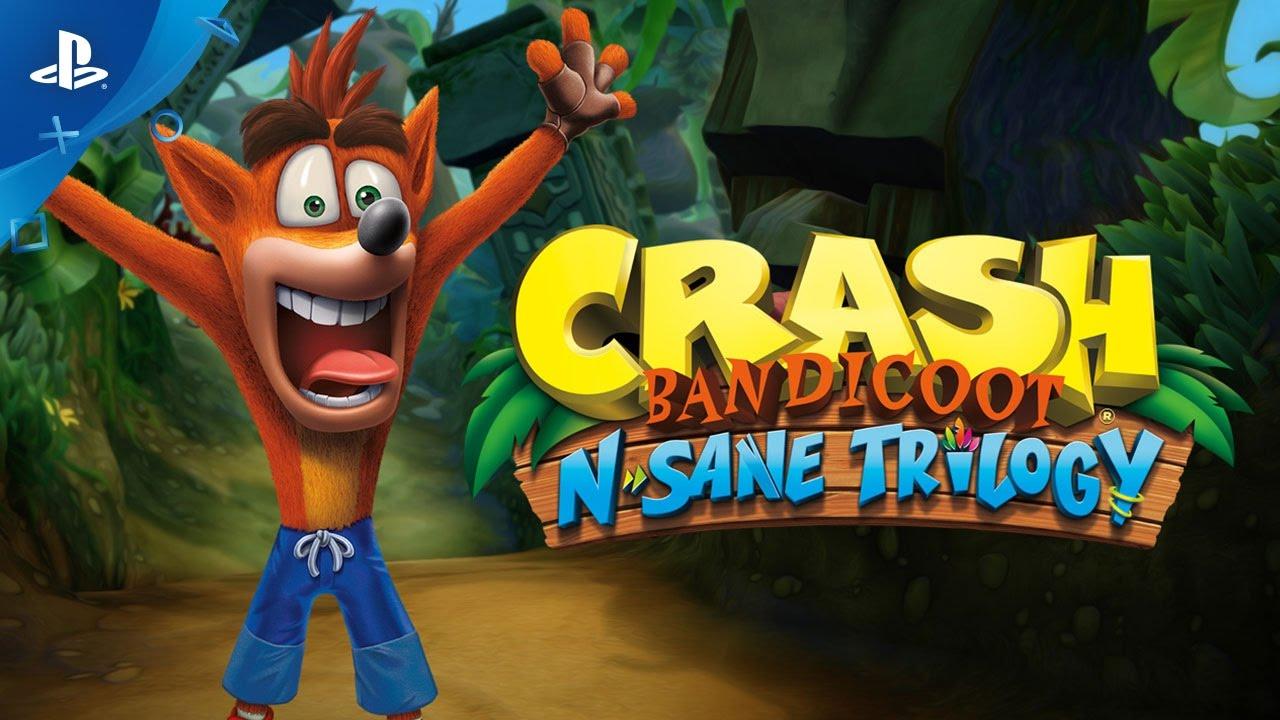 Crash N Sane Trilogy contará con tres trofeos platinos