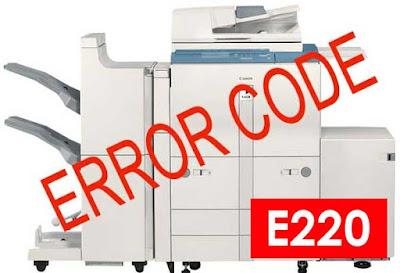 Atasi Problem E220 Fotocopy Canon IR