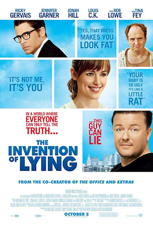 Poster Of The Invention of Lying In Dual Audio Hindi English 300MB Compressed Small Size Pc Movie Free Download Only At worldfree4u.com