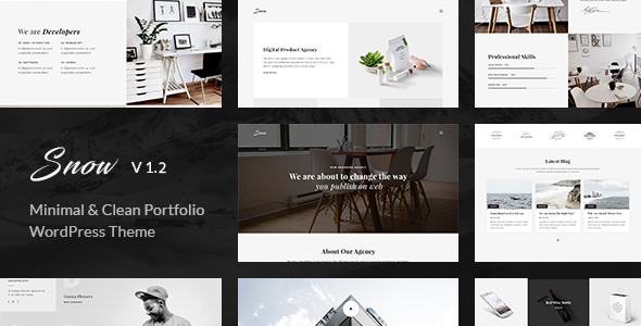 Snow v1.2.0 – Minimal & Clean WordPress Portfolio Theme