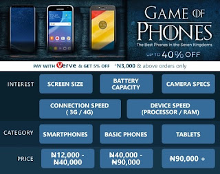 Jumia Game Of Phones Deals Upto 40% Off On Discounts